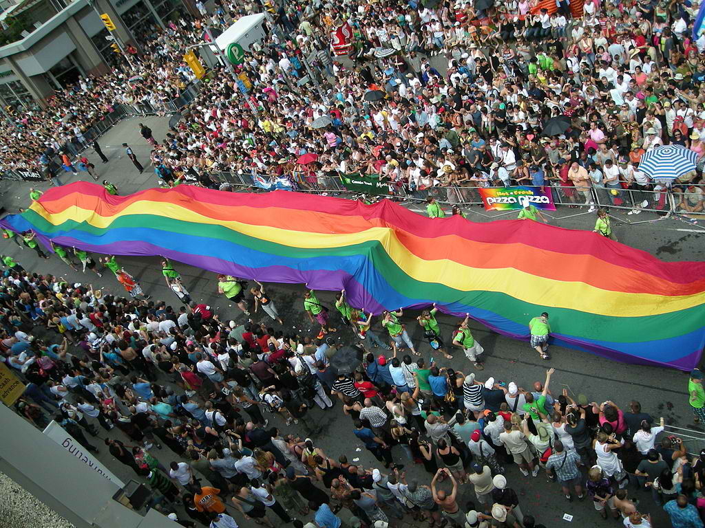 Toronto Gay Pride in 2008. Photo by Neal Jennings / Flickr.