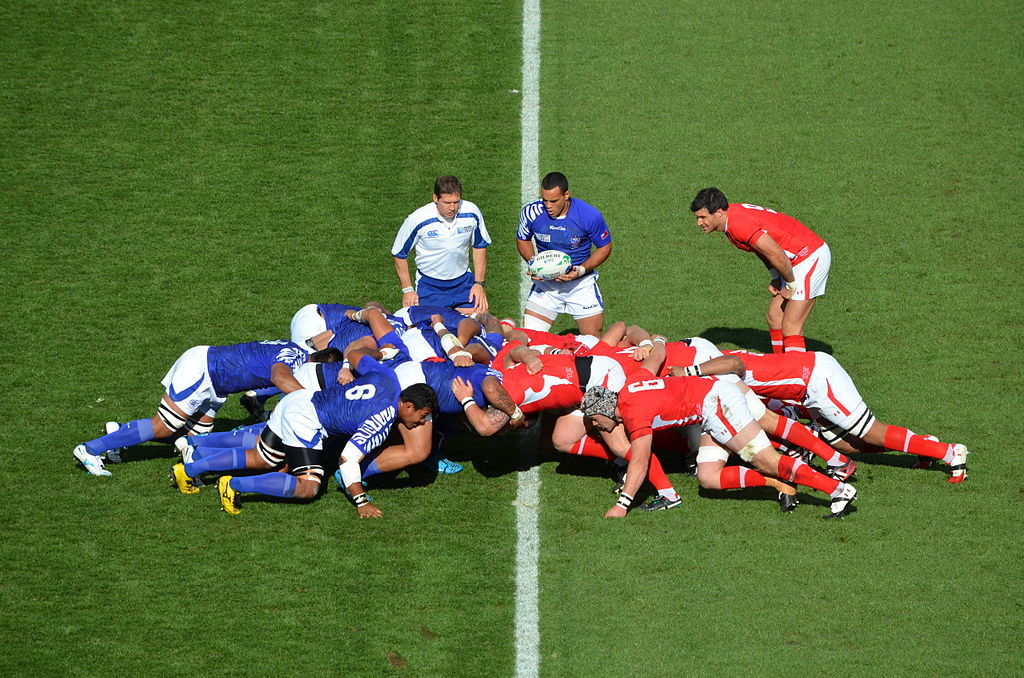 Wales vs Samoa from the 2011 Rugby World Cup. Photo by Jolon Penna / Flickr.