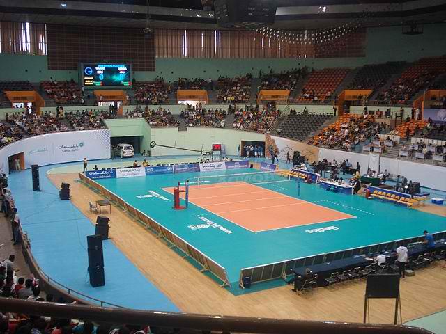 Azadi Indoor (Volleyball) Stadium, 2013 World League First Round. Photo by Tabarez2 / Wikimedia Commons.