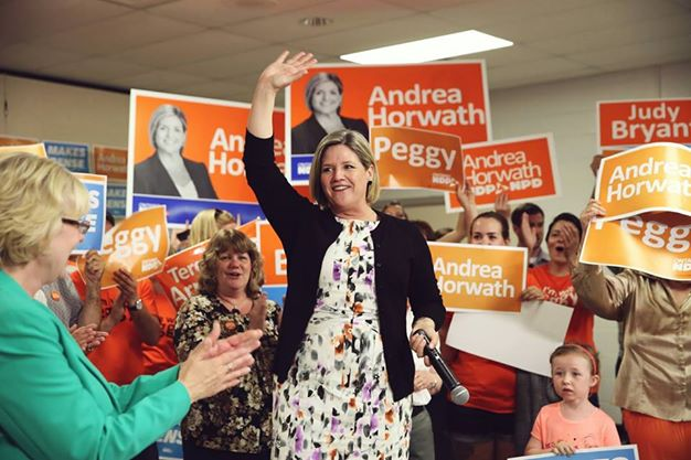 Leader of the Ontario NDP Andrea Horwath. Photo courtesy of Horwath's official Facebook page.