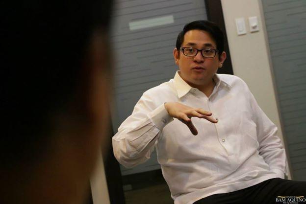 """Sen. Benigno """"Bam"""" Aquino. Photo from Aquino's official Facebook page."""