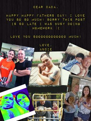 Father's Day photo collage card made by Andie for her Dada, Andrew. (Courtesy of Andie Duarte-Syyap)