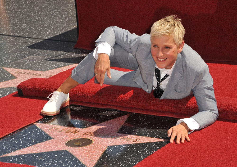 Ellen DeGeneres on Hollywood Blvd where she was honored with the 2,477th star on the Hollywood Walk of Fame. September 4, 2012 Los Angeles, CA Picture: Paul Smith on Feature Flash / ShutterStock