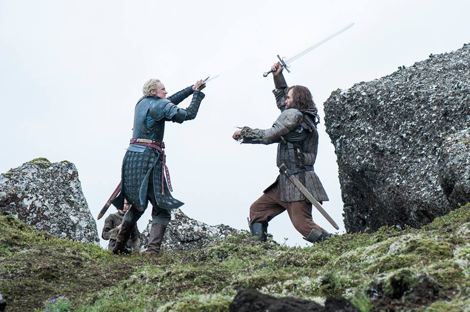 Brienne of Tarth and Sandor Clegane a.k.a. The Hound battle it out for Arya Stark. Photo courtesy of 'Game Of Thrones' official Facebook page.