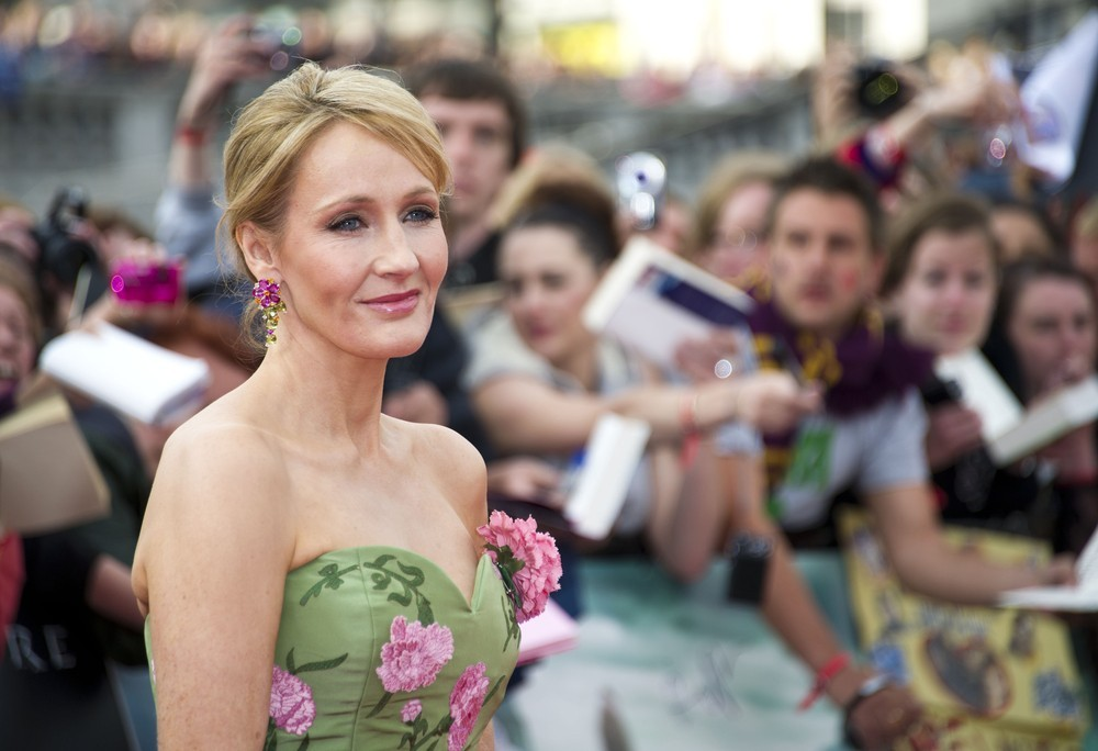 JK Rowling arriving for the world premiere of 'Harry Potter & the Deathly Hallows Part 2', Trafalgar Square, London. July 7, 2011. Photo by James McCauley for Featureflash / ShutterStock