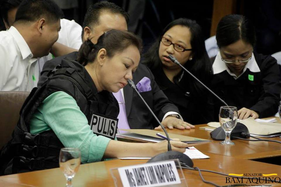 Alleged pork barrel scam mastermind Janet Lim-Napoles. Photo from Aquino's official Facebook page.
