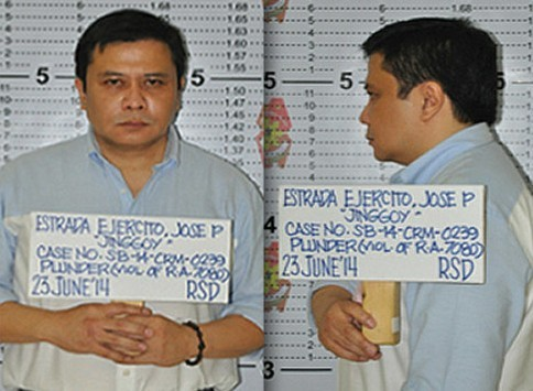 Unidentified government source leaked Sen. Jose 'Jinggoy' Estrada's mugshots.