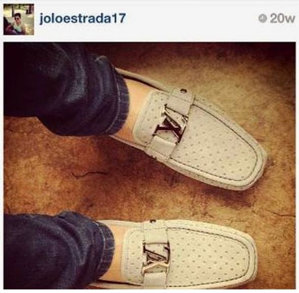 Jolo Ejercito's LV loafers cost more than your monthly salary. Photo courtesy of Arpee Lazaro.
