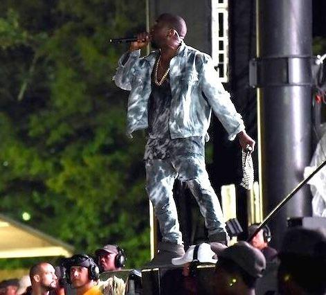 Kanye West at Bonnaroo. Photo courtesy of Upscale Hype / Twitter