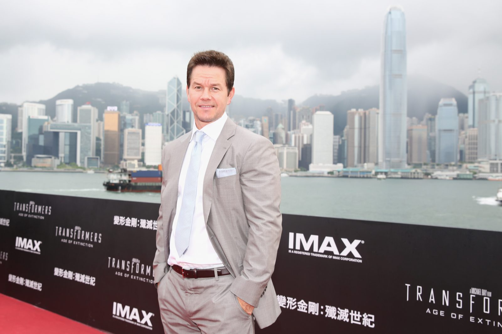 "HONG KONG - JUNE 19: Mark Wahlberg arrives at the worldwide premiere screening of ""Transformers: Age of Extinction""at the on June 19, 2014 in Hong Kong, Hong Kong. (Photo by Callaghan Walsh/Getty Images for Paramount via images.net)"