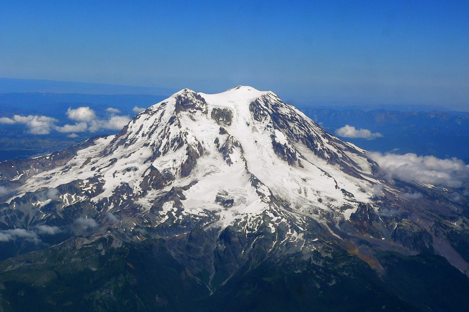 Mount Rainier as seen from the west. WikiCommons photo
