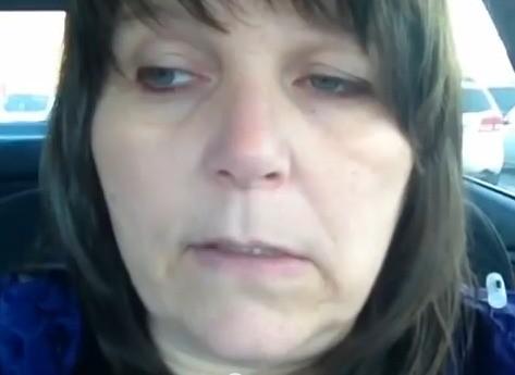"YouTube screengrab of Stacey Yepes ""stroke selfie"" video"