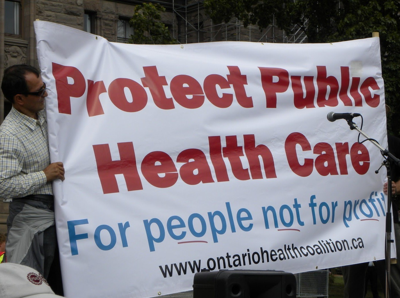 Ontario Health Coalition on protecting patient care. Photo courtesy of No Ad Lib / Blogspot