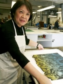 Lenore RS Lim in the studio. (Wikipedia photo)