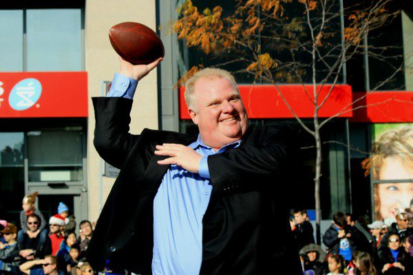 Mayor Rob Ford of Toronto. Photo courtesy of Ford's Facebook page.