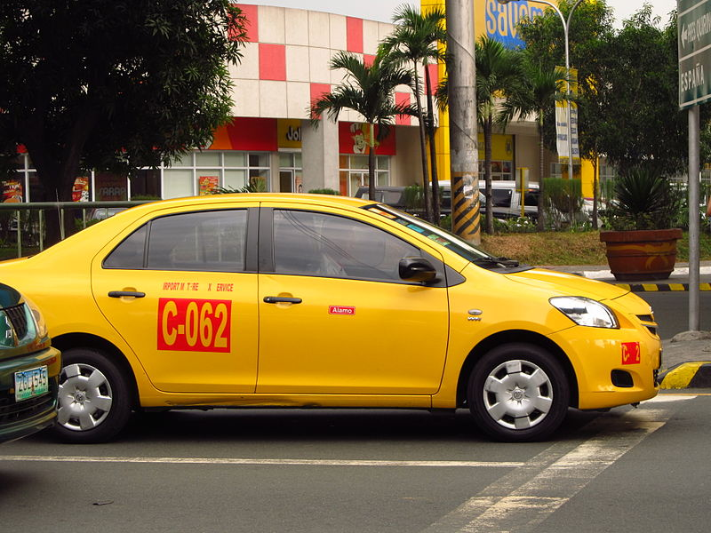 A Toyota Vios airport taxi / Wikipedia Photo