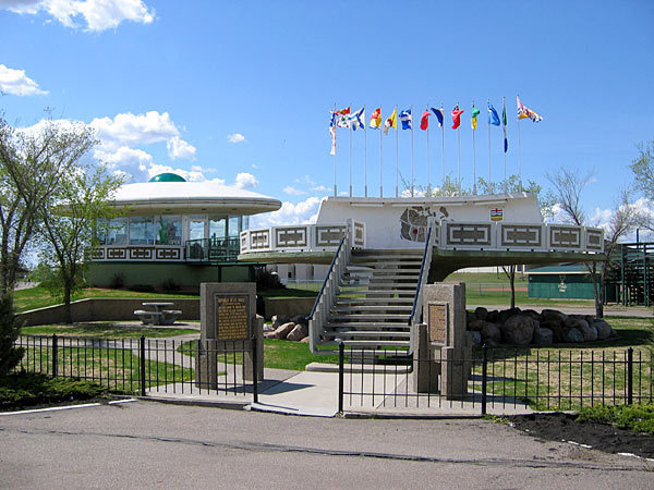 The world's first-ever UFO landing pad in St, Paul, Alberta. (Photo: www.town.stpaul.ab.ca)