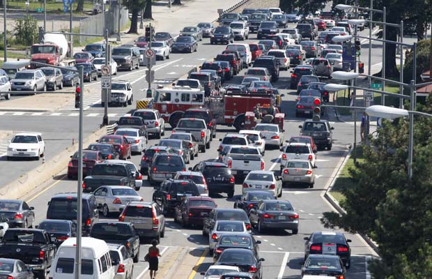 Vancouver has the worst traffic situation in Canada? Photo courtesy of Car Driven.