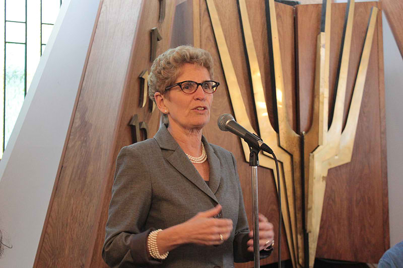 Liberal Premier Kathleen Wynne. Photo by Uiaeli / Wikimedia Commons.