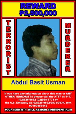 """Abdul Usman Basit """"wanted"""" poster circulated in 2009-2010. (Photo: news.nfo.ph)"""