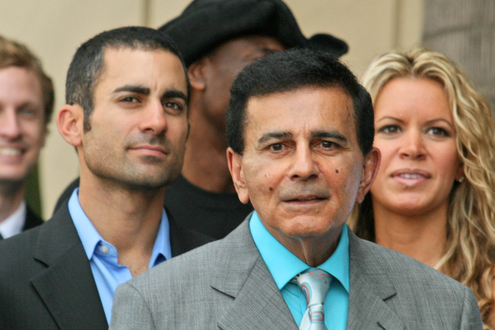 Mike Kasem with Casey Kasem and Amy Peterson at the Ceremony honoring Mike Curb with a star on the Hollywood Walk of Fame. Vine St, Hollywood in 2007. s_bukley / Shutterstock