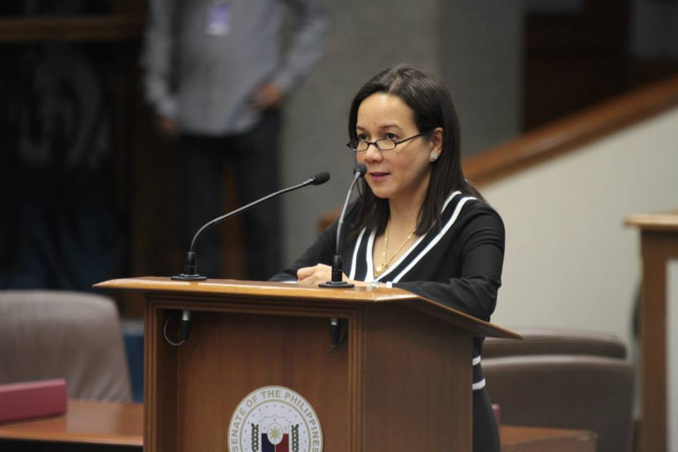 Senator Grace Poe-Llamanzares (Photo from Poe's official Facebook page)