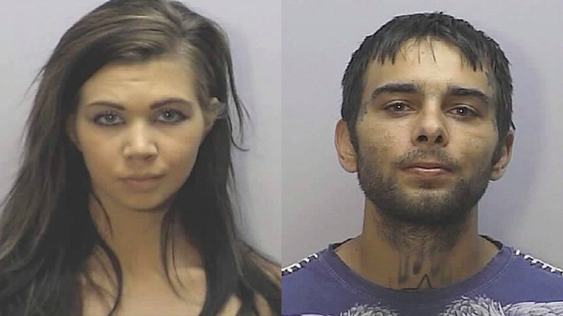 Mugshots of Eden Boswell and lvis Boswell. Screenshot courtesy of TLC.