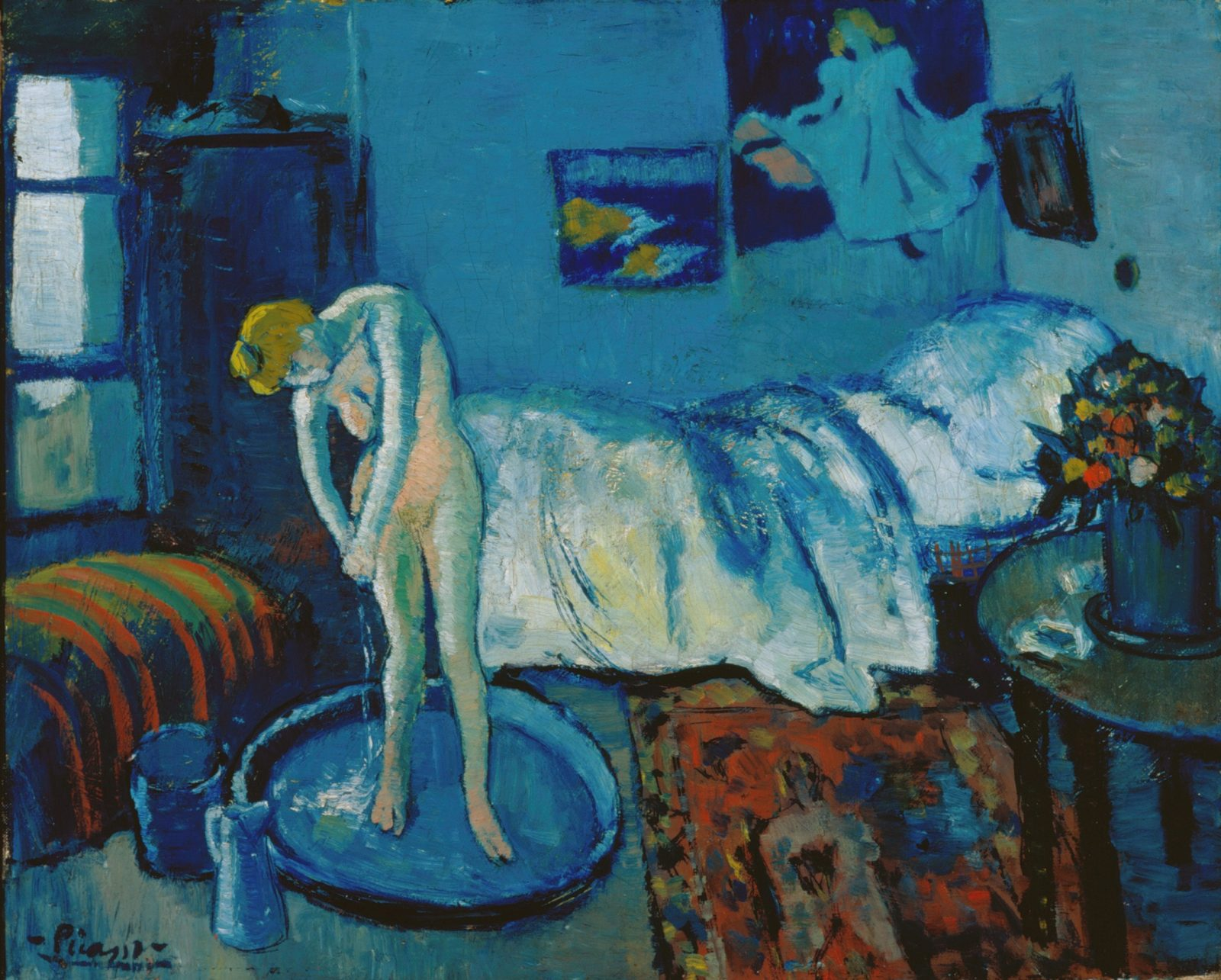 """The Blue Room"" by Pablo Picasso. Photo courtesy of www.antiquesandfineart.com"