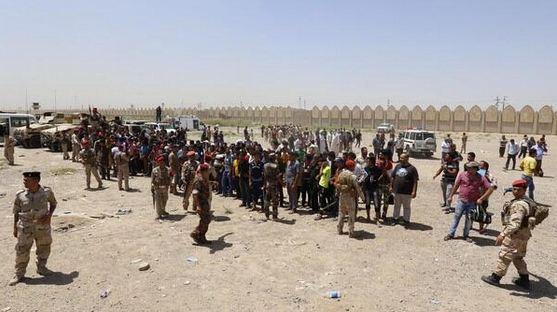 Men answer Iraq's call to arms. Photo courtesy of Joaquim Casanovas / Twitter