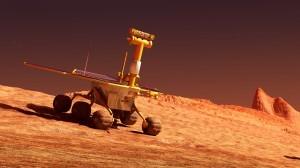Mars rover on Mars. ShutterStock image