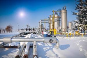 Winter at gas plant (ShutterStock image)
