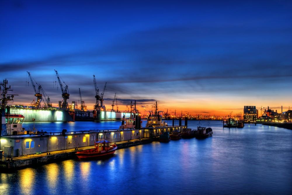Industrial area port in Hamburg, Germany. Photo by MTrebbin / Shutterstock.com