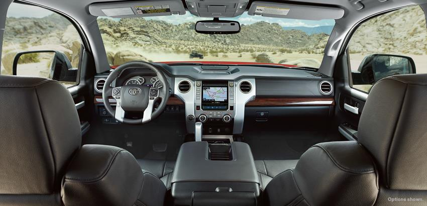 Interiors of Toyota Tundra. Photo from Toyota USA Facebook page.