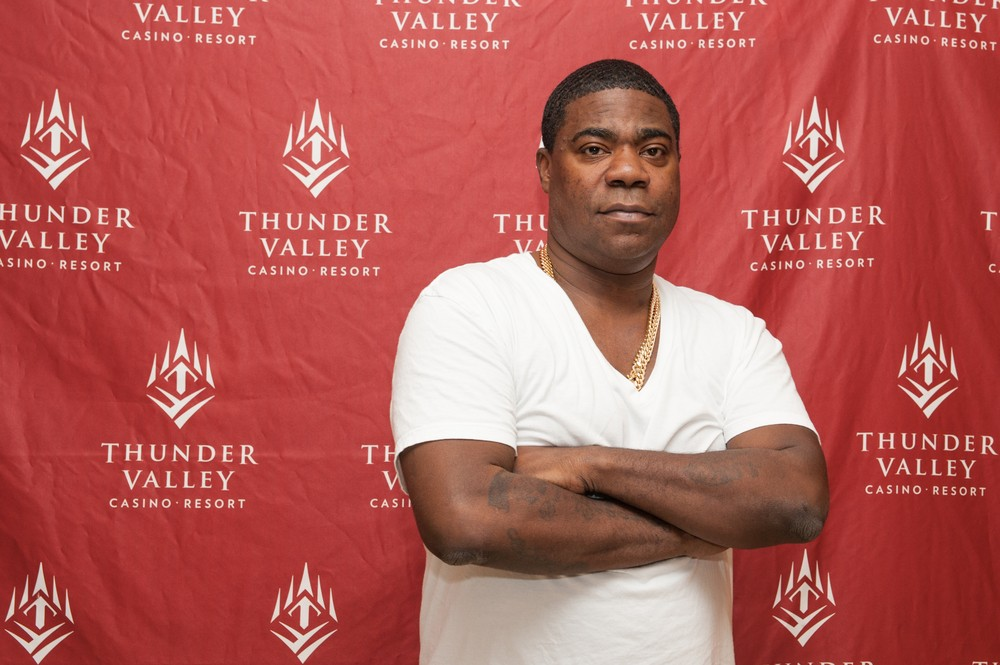 Comedian Tracy Morgan performs at Thunder Valley Casino Resort in Lincoln, California on April 26, 2014. )Randy Miramontez / Shutterstock)