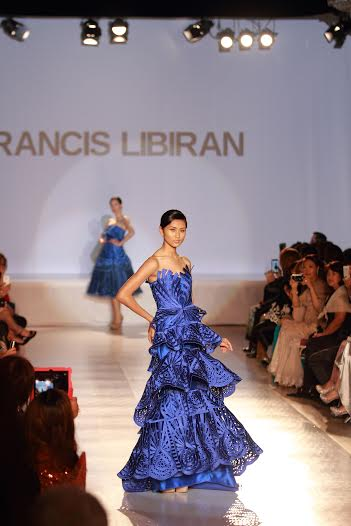 Jodilly walking for Francis Libiran during Canada Philippine Fashion Week in June/ Photo by Solon Licas