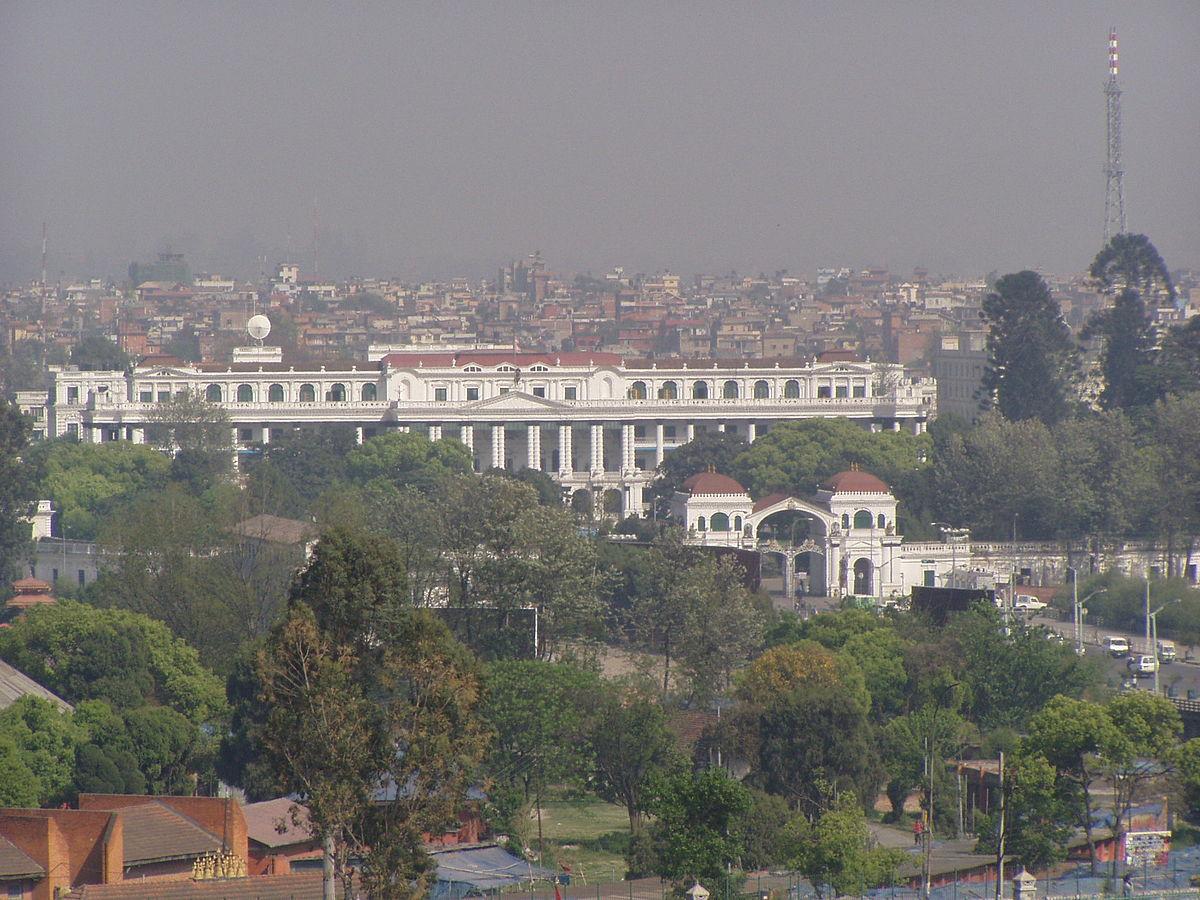 Singha Durbar, the seat of Nepalese government. Photo by Sigismund von Dobschütz / Wikimedia Commons.