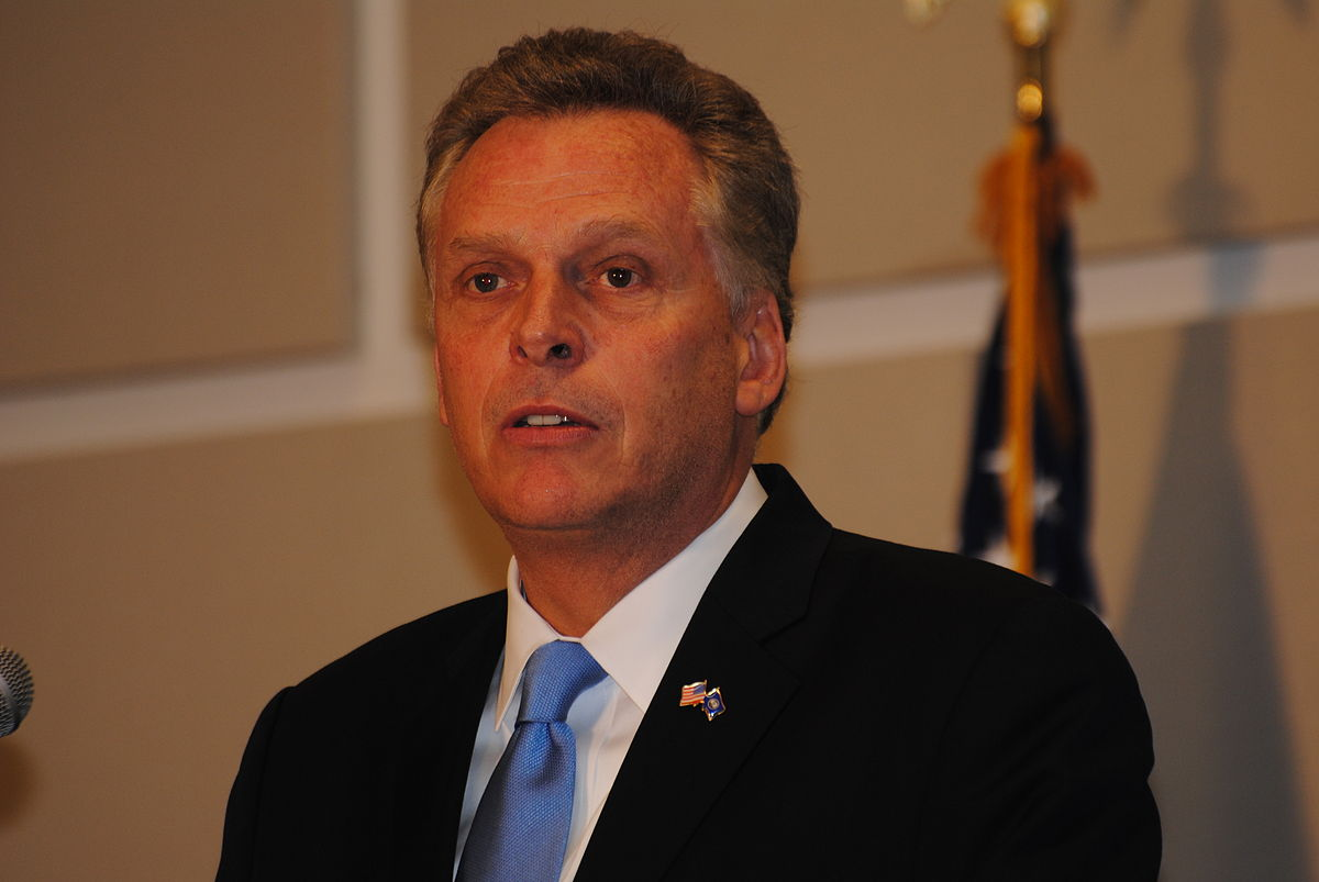 Virginia Gov. Terry McAuliffe. Photo by Edward Kimmel / Wikimedia Commons.