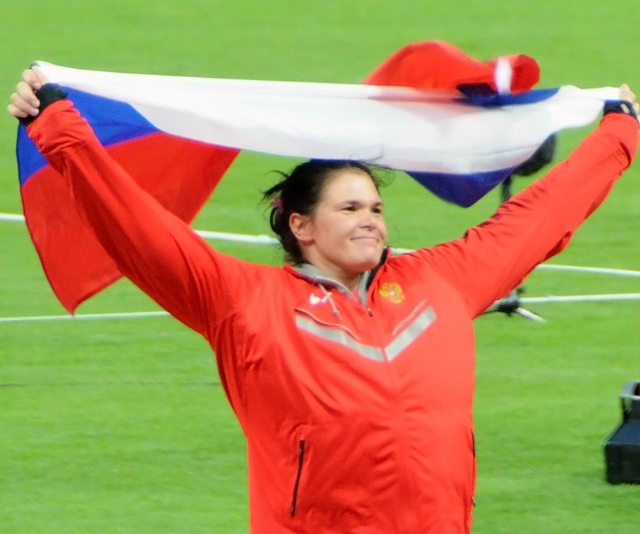 Russia's 2012 Olympic discus medallist Darya Pishchalnikova was among those banned for doping prior to the 2013 championships. Photo by Citizen59 / Wikimedia Commons.