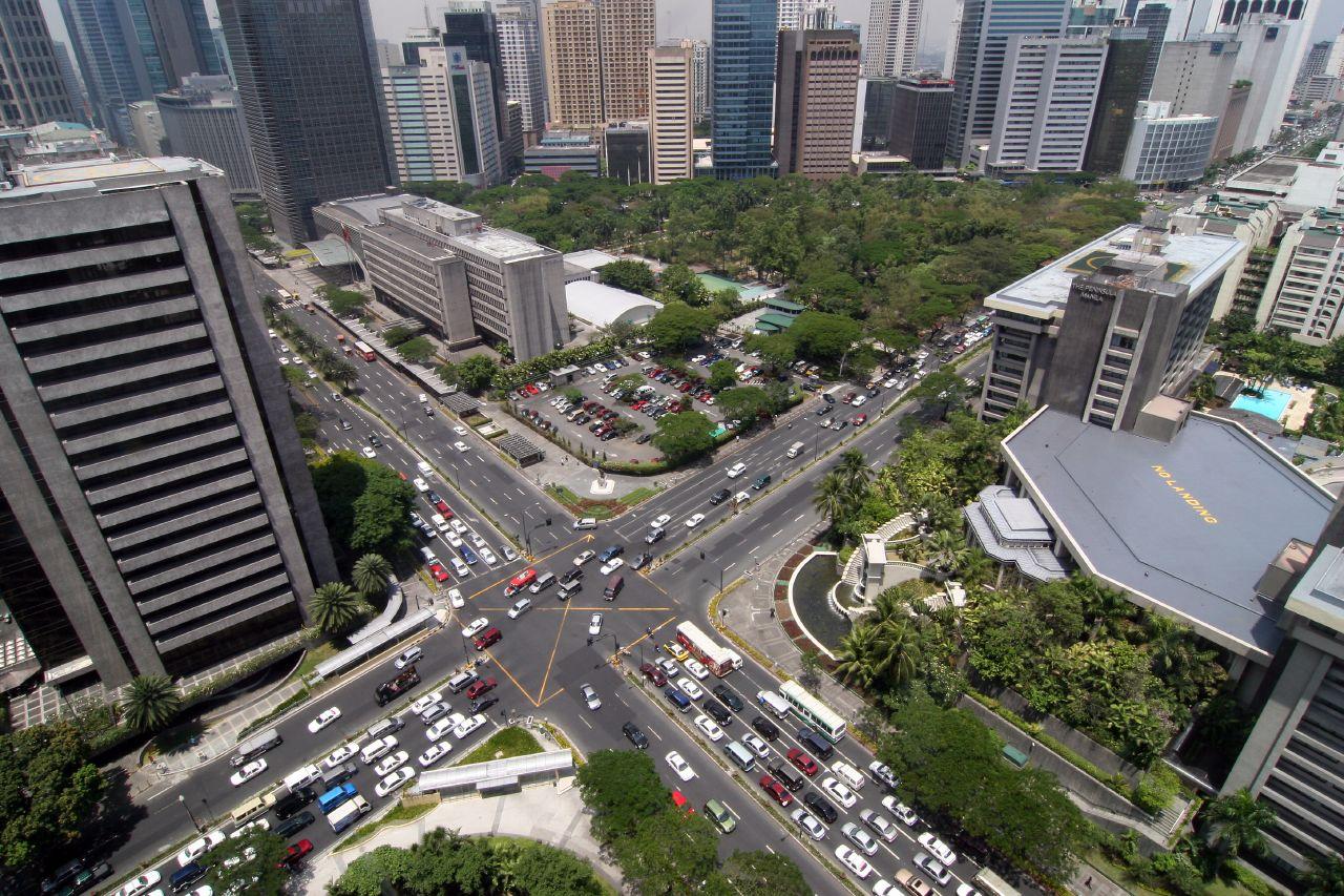 Ayala Triangle in Makati City (Wikipedia)