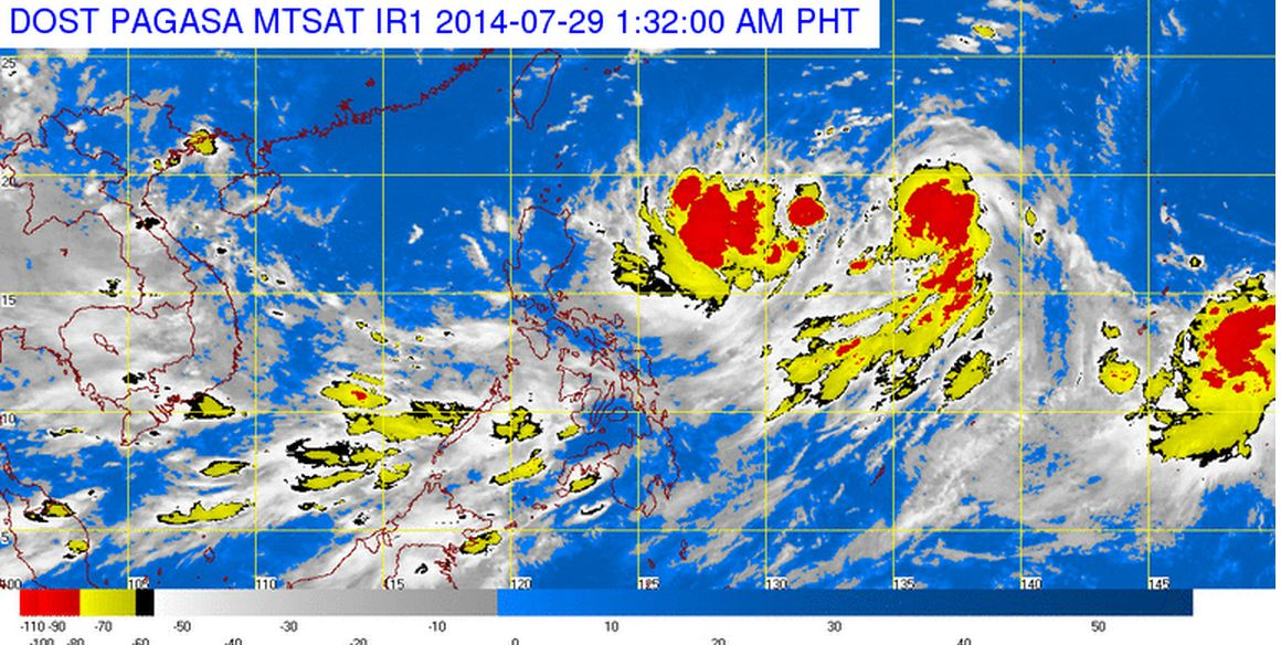 Satellite image courtesy of DOST PAGASA