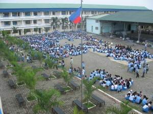Earthquake drill in TCNHS / Wikipedia Photo