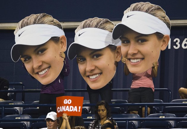 Fans supporting Canadian Eugenie Bouchard. Photo courtesy of Bouchard's Facebook account.