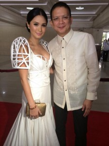 Heart Evangelista and Chiz Escudero at SONA 2014. (Facebook photo)