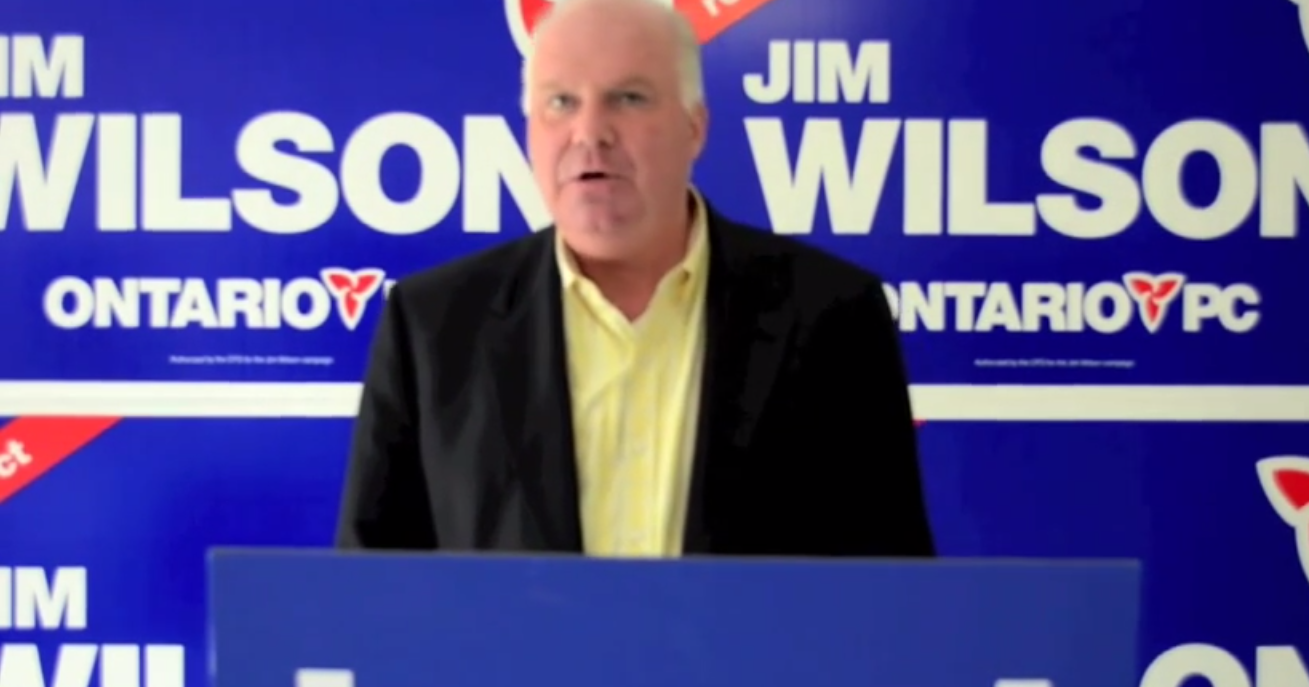 Progressive Conservative Leader Jim Wilson (Screenshot from Educated Solutions footage)