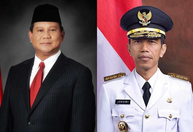Joko Widodo (right) and Prabowo Subianto (Wikipedia photos)