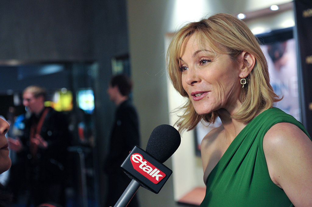 "Kim Cattrall chatting with etalk on the red carpet for the Canadian premiere of ""Meet Monica Velour."" Photo from Canadian Film Centre / Flickr."