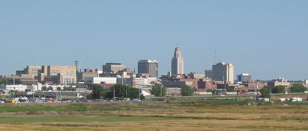 Downtown Lincoln, Nebraska. Photo by Stack / Wikimedia Commons.
