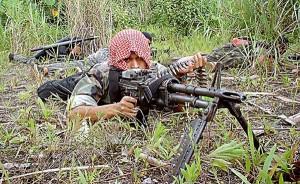 A Bangsamoro militant in training (Wikipedia photo)