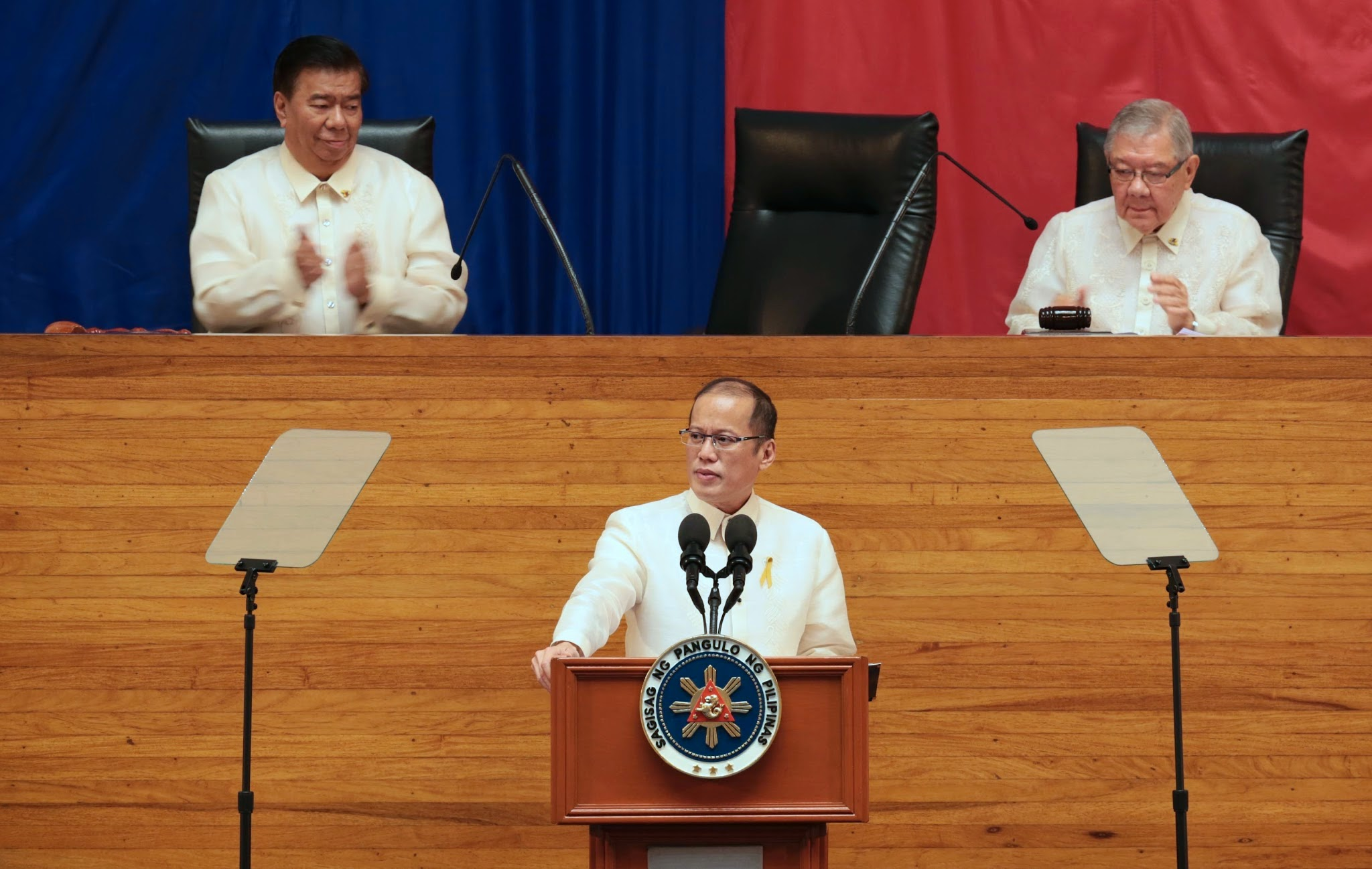 President Benigno S. Aquino III delivers his 5th State of the Nation Address (SONA) during the Joint Session of the 16th Congress at the Batasang Pambansa in Quezon City on Monday (July 28). (Photo by Ryan Lim / Benhur Arcayan/ Malacanang Photo Bureau)