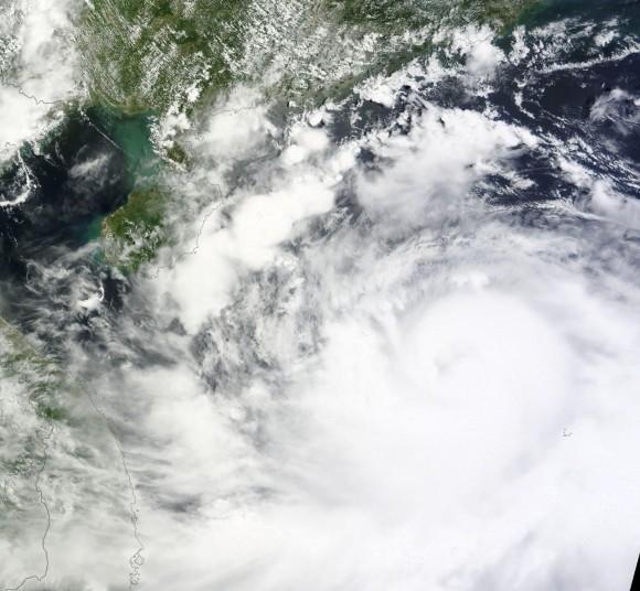 Typhoon 'Rammasun' approaching China. NASA Photo